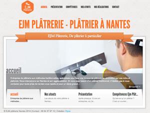 EJM Plâtrerie - Création de site vitrine et SEO