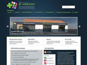 Pharmacie St Vincent - Création de site vitrine